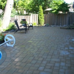 backyard landscaping - pool and deck