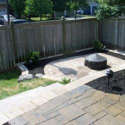 backyard landscaping - fire pit