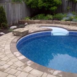 Pool Lanscaping - Interlock