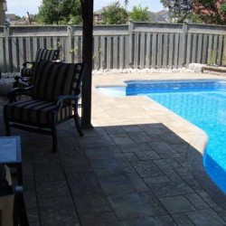 inground pool and patio