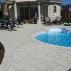 interlock type pool deck area