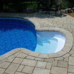 walkin stairs to inground pool