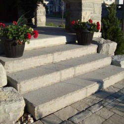 Front Entrance Landscaping - stairs