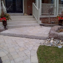 front entrance interlock walkway
