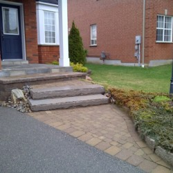 Front Entrance walkway and landscaping