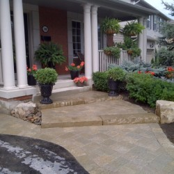 interlock front walkway and entrance