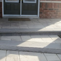 stone stair front entrance landscaping