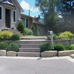 stone front stair entrance